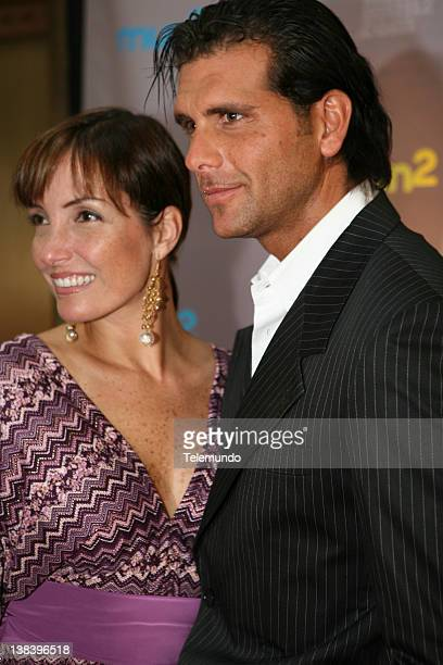 MAY 2007 'Red Carpet' Pictured Marisol Meier and Christian Meier arrive at the 2007 Telemundo Upfront event on May 15 2007