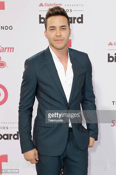 Prince Royce arrives at the 2015 Billboard Latin Music Awards from Miami Florida at the BankUnited Center University of Miami on April 30 2015...