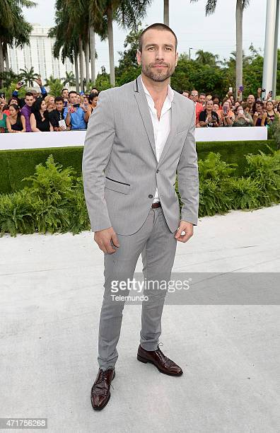 Rafael Amaya arrives at the 2015 Billboard Latin Music Awards from Miami Florida at the BankUnited Center University of Miami on April 30 2015...