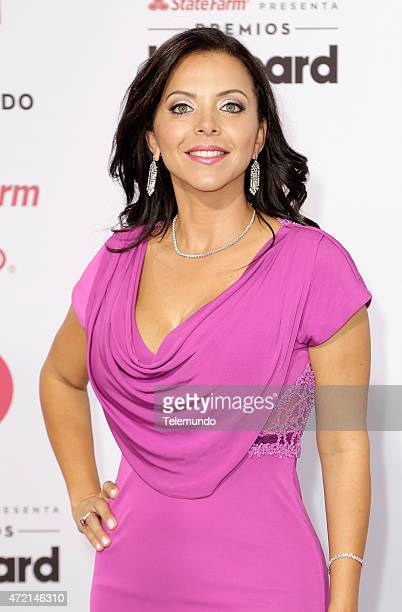 Sofia Lachapelle arrives at the 2015 Billboard Latin Music Awards from Miami Florida at the BankUnited Center University of Miami on April 30 2015...