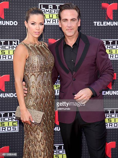 Ximena Duque and Carlos Ponce arrive at the 2015 Latin American Music Awards at The Dolby Theater in Hollywood CA on October 8 2015 LATIN AMERICAN...