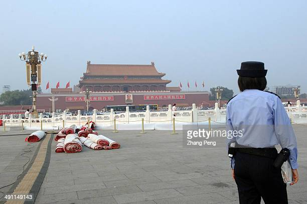 Red carpets will be laid on Tiananmen Square which will host a grand celebration on the upcoming National Day of October 1 2009 This year will...