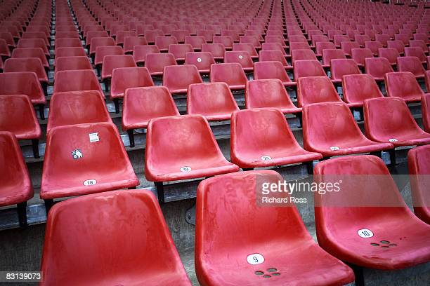 red chairs at a stadium