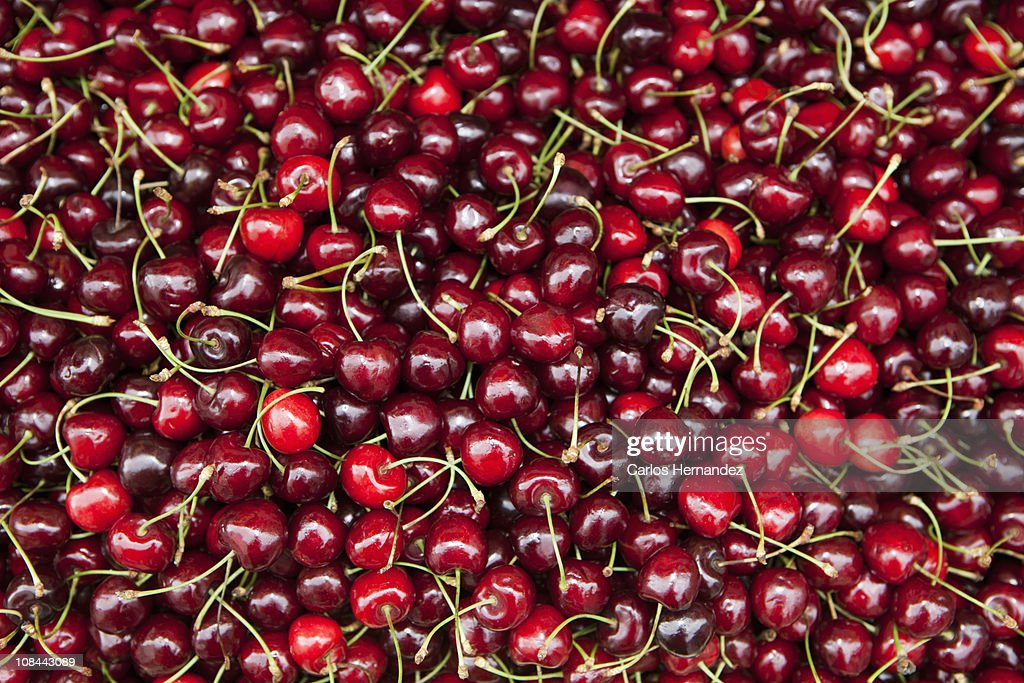 Red cherries : Stock Photo