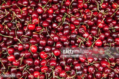 Red cherries : Stock Photo