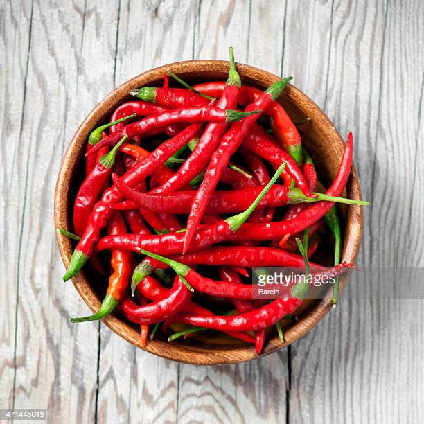 Rote chili peppers