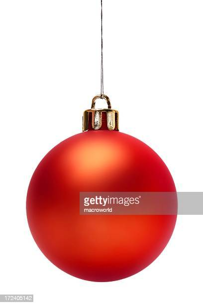Red Christmas Ball (Isolated)