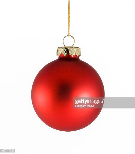 Red Christmas bauble isolated on a white background