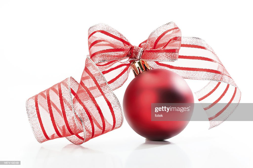 Red christmas bauble : Stock Photo