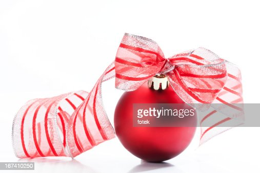 Red christmas bauble : Stockfoto