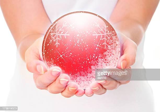 Globo de Natal vermelho