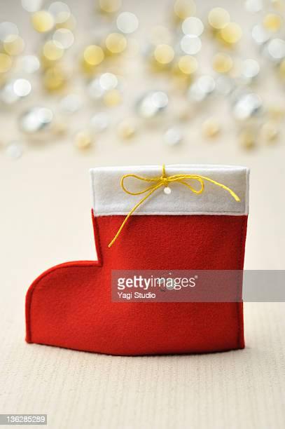 A red Christmas sock, Christmas