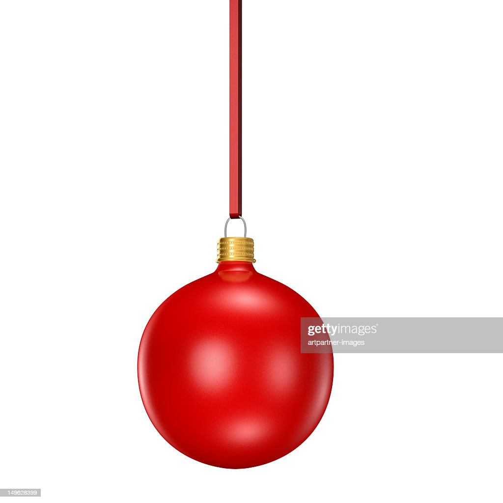 Red christmas tree ornamnet or bauble