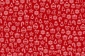 Red Christmas wallpaper with new year theme