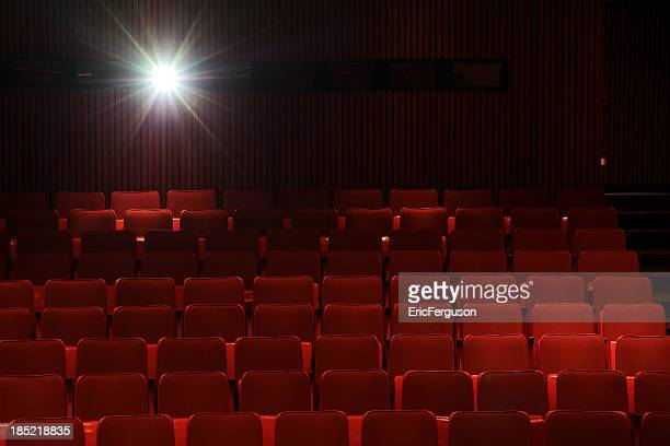 Red Cinema seats and projector