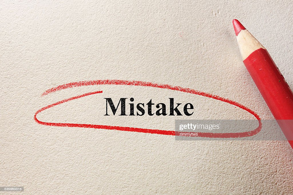 red circle mistake : Stock Photo
