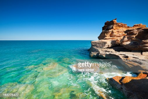 Red falaise au Gantheaume Point, Broome, Australie-Occidentale