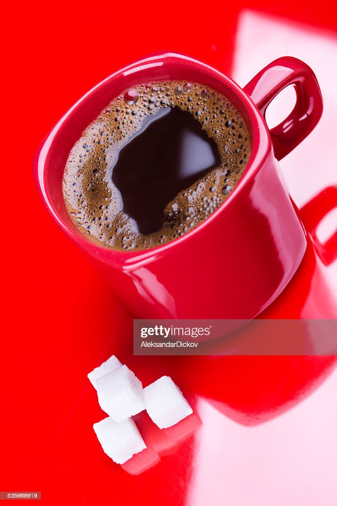 Red coffee : Stock Photo