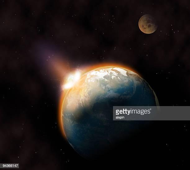 Red comet struck Earth