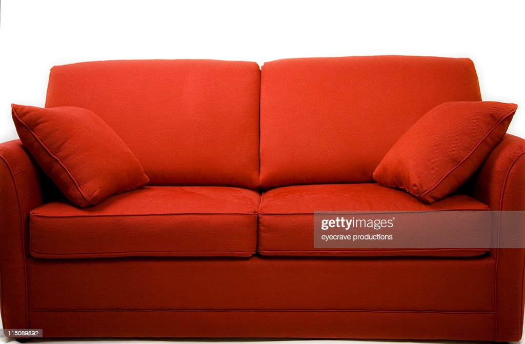 red couch love seat