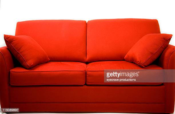 Rote couch love seat