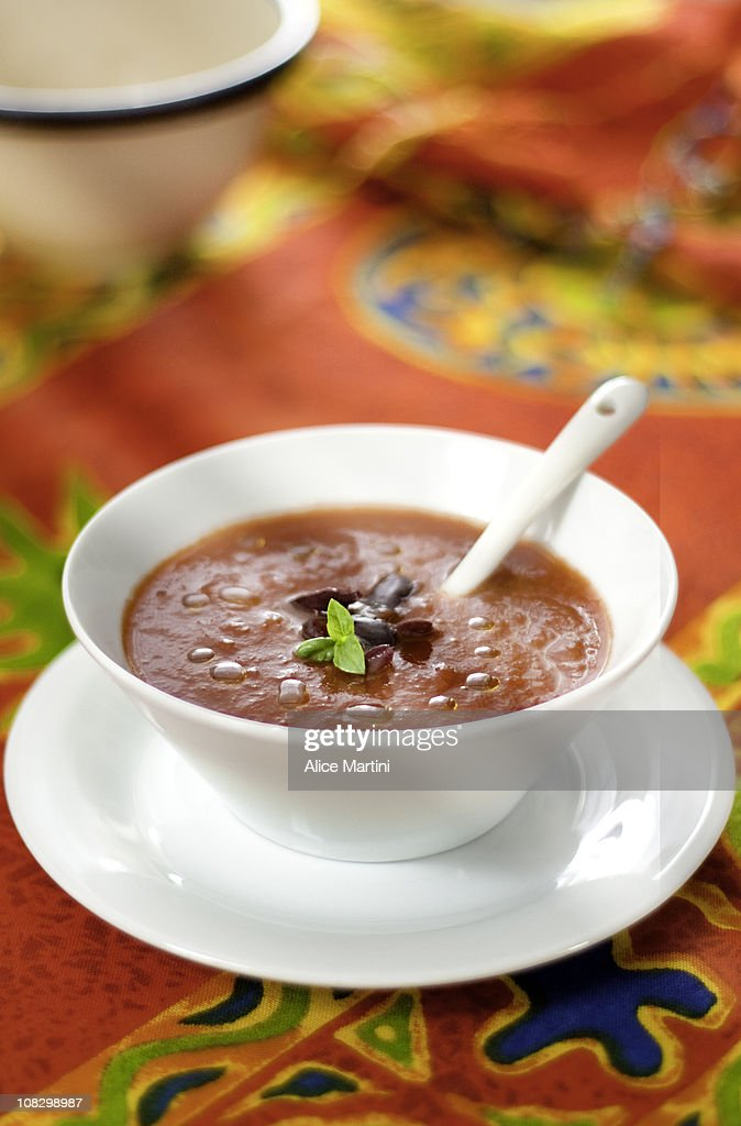 Red cream soup