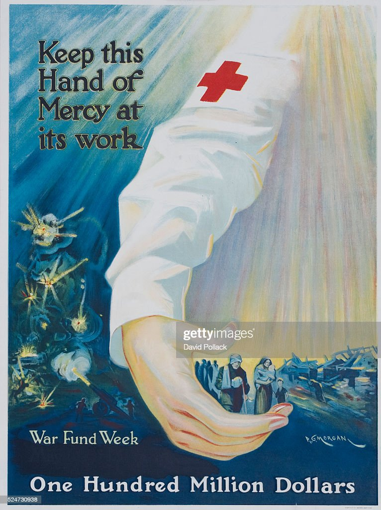 Red Cross War Fund Week poster by PG Morgan circa 1918