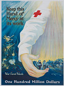 Red Cross War Fund Week poster by PG Morgan circa 1918
