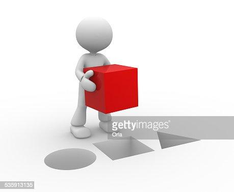 Cubo rojo : Foto de stock