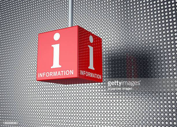 Red Cube with the word INFORMATION