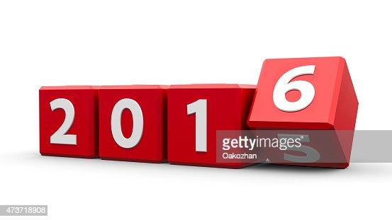 Rojo cubos de 2016 : Foto de stock