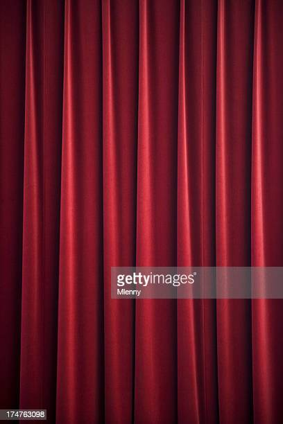 red curtain drape