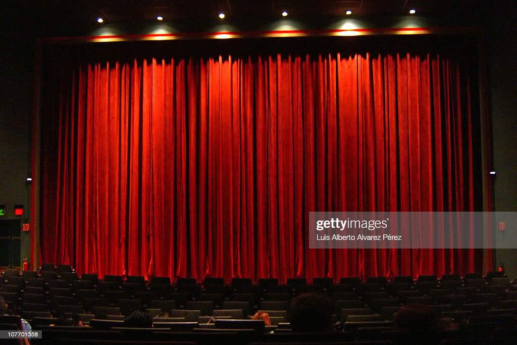 Red Curtain In Movie Theater Stock Photo | Getty Images