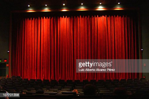 Red Curtain In Movie Theater Stock Photo   Getty Images