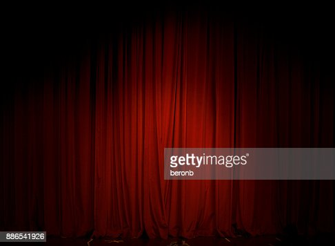 Red Curtain in the theater : Stock Photo