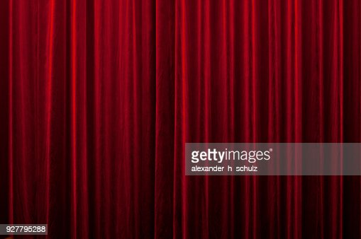 red curtain : Stock Photo