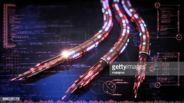 Roten Datenkabel futuristisches Design