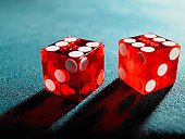 Red dice, close-up