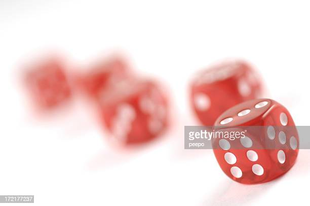 red dice on white series