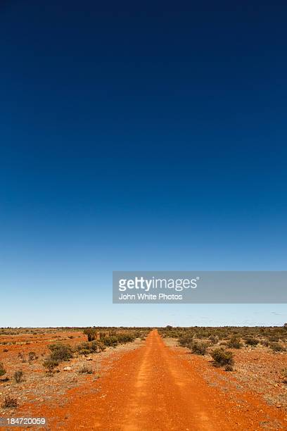 Red dirt road. Outback Australia.