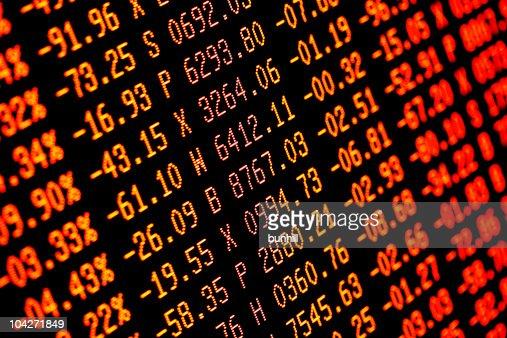 Colapso da Bolsa de Valores de venda de desconto vermelho Finanças números