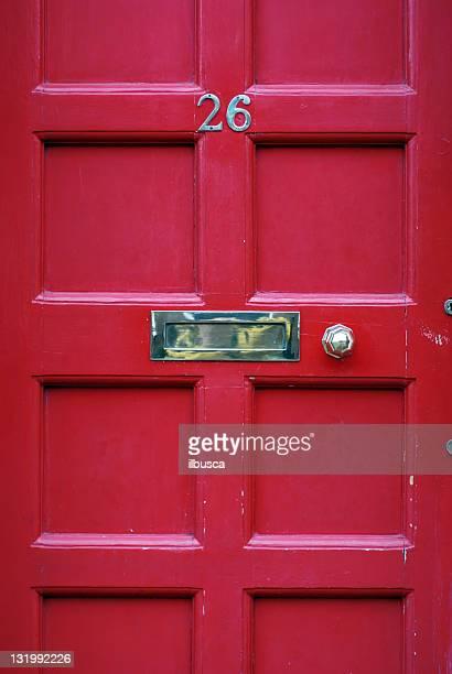 Red door number 26