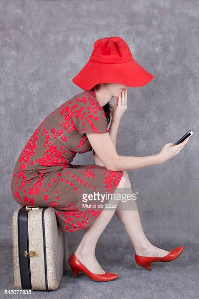 Red dressed woman