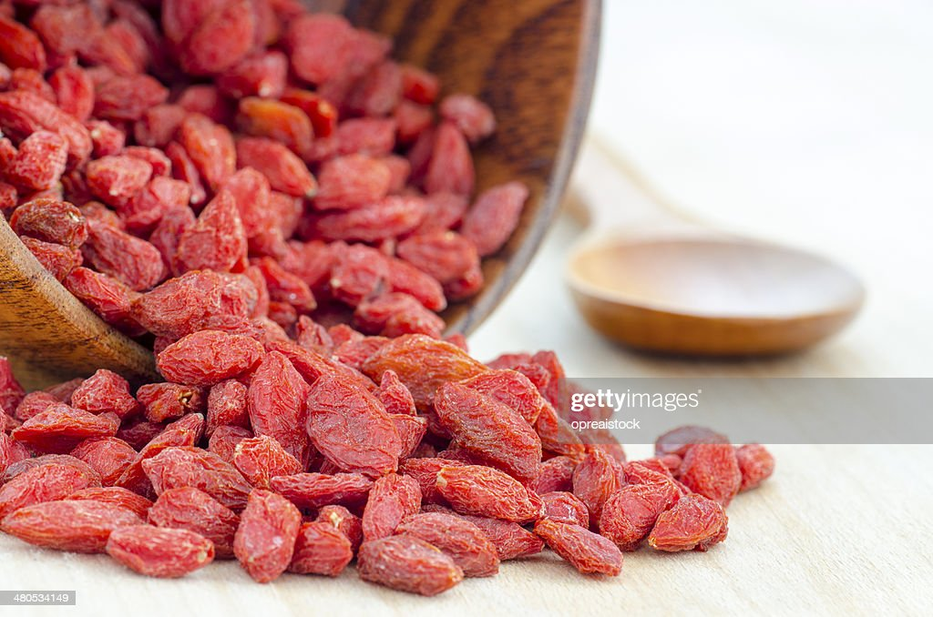 Red dried goji berries : Stockfoto