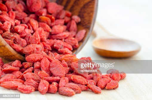Red dried goji berries : Stock Photo