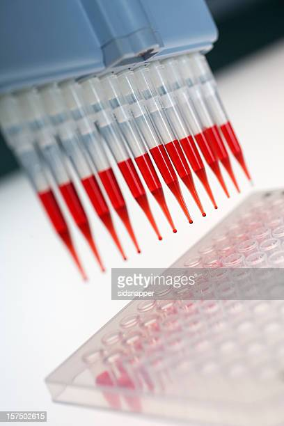Red drip from pipette