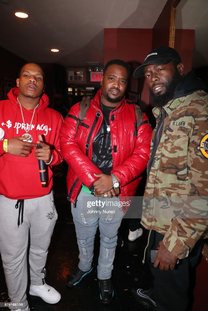 Red Drug, DJ Amaris, and Regg Rocc attend Gramercy Theatre on November 13, 2017 in New York City.