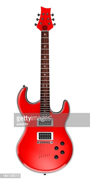 レッドエレキギター