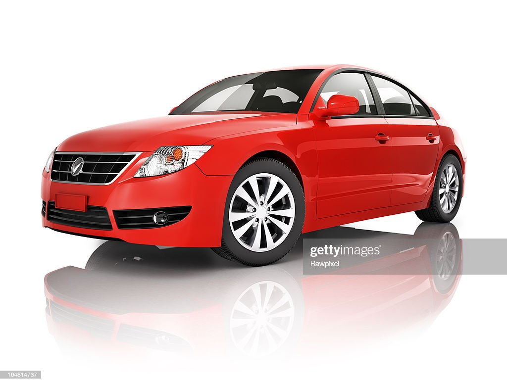 Red elegant sedan car