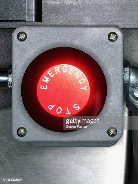 Red Emergency Stop Button